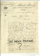 70 - Haute-saône - SAINT-SAUVEUR - Facture PIERCY  - Vins-  1909 - 1900 – 1949