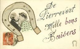 CPA  PIERREVERT, Mille Bons Baisers  8092 - Other Municipalities