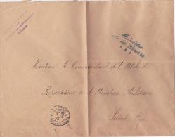 """1915 Griffe """" DIRECTON DE L'AERONAUTIQUE MILITAIRE"""" Sur Lettre Avec FRANCHISE """" MINISTERE DE LA GUERRE (1)"""" - 1. Weltkrieg 1914-1918"""