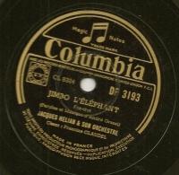 78 Tours Aiguille COLUMBIA N° DF 3193 JUMBO L'ELEPHANT & LA PLUS BELLE VALSE D'AMOUR - 78 T - Disques Pour Gramophone