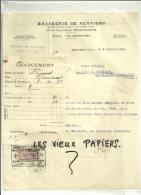 88 - Vosges - XERTIGNY- Facture Brasseries De XERTIGNY+bon De Chargement - 1924 - 1900 – 1949