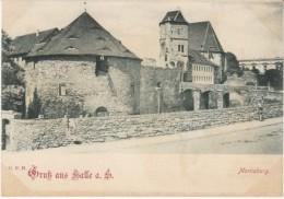 Halle An Der Saale Germany, Moritzburg Castle 30-years War, C1890s/1900s Vintage Postcard - Halle (Saale)