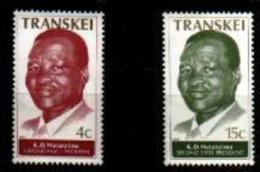 TRANSKEI, 1979,  MNH Stamp(s), 2nd State President  Nr(s) 52-53 - Transkei