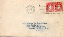 IRLANDE LETTRE POUR LES ETATS UNIS 1931 - 1922-37 État Libre D'Irlande