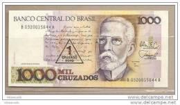 Brasile - Banconota Circolata Da 1000 Crusado - 1 Crusado Nuovo - 1989 - Brasile