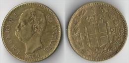 20 Lires 1880 OR Rare TTB à SUP - 1861-1946 : Royaume
