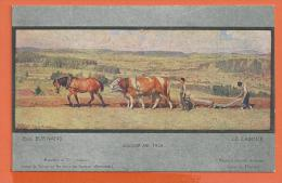 B1033, Le Labour, Eug. Burnand, Cheval Et Boeufs, Non Circulée - Cultivation