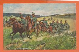 B1044, Maschinengewehr, Abteilung Im Vorgehen, Deutschen Kriegerbundes, Circulée 1911 - Militaria