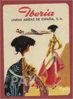 SPAIN ♦ IBERIA ♦ ESPAÑA ♦ VINTAGE LUGGAGE LABEL ♦ 2 SCANS - Étiquettes à Bagages