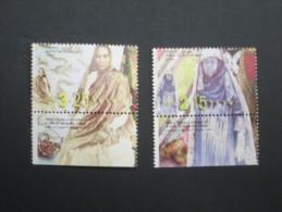 ISRAEL 1999  ETHNIC COSTUMES SRAEL MINT TAB STAMPS - Israel