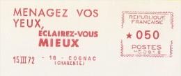Menagez Vos Yeux Eclairez Vous Mieux - 1972 - Marcophilie (Lettres)