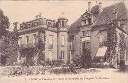 03 - Vichy - Pavillon Où Résida La Marquise De Sévigné (timbres Taxe....voir Dos) - Vichy