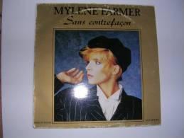"""MAXI -  MYLENE FARMER -  POLYDOR 887195  """" SANS CONTREFACON """"  + 2 - 45 T - Maxi-Single"""