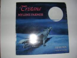 "MAXI -  MYLENE FARMER -  POLYDOR 885572  "" TRISTANA ""  + 2 - 45 G - Maxi-Single"