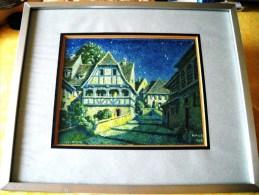 """Superbe Gravure De **  HANSI  **  --d´aprés Son Aquarelle De 1948 Sur Le Village De """" WASSELONNE  """" - Engravings"""