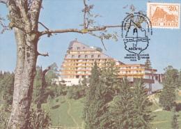 VACATION, TOURISM,POIANA BRASOV, HOTEL ALPIN,CM, CARTES MAXIMUM, MAXI CARD,1995,ROMANIA - Ferien & Tourismus