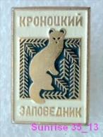 Animals: Sable - Zibeline - Sobol National Park Baikal / Old Soviet Badge_035_an2213 - Animals
