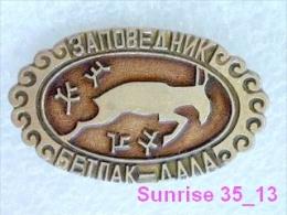 Animals: Gazelle - Persian Gaxelle - Gazella Subgutturosa - National Park Betpak Dala / Old Soviet Badge_035_an2240 - Animals