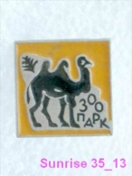 Animals: Camel - Mount - Oont - Zoo / Old Soviet Badge_035_an2239 - Animals