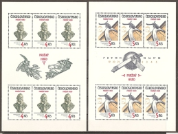 CHECOSLOVAQUIA 1983 - Yvert #2540/41 (Minipliego) - MNH ** - Hojas Bloque