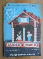 *SPARTITO - LUCIA E TOBIA - E DONNA DI PRIMAVERA - DAL  FESTIVAL DI SANREMO 1956 - - Spartiti