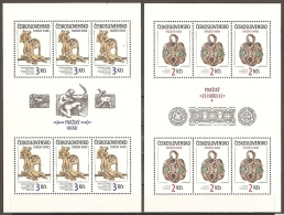 CHECOSLOVAQUIA 1986 - Yvert #2678/79 (minipliegos) - MNH ** - Hojas Bloque