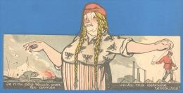 RUSSIA GERMANY PROPAGANDA MECHANICAL VINTAGE CARD B727 - Satirische