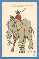 FRANCE GERMANY PROPAGANDA ELEPHANT VINTAGE PC. B574 - Satirische