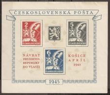 CHECOSLOVAQUIA 1945 - Yvert #H8 - MNH ** - Hojas Bloque