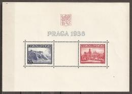 CHECOSLOVAQUIA 1938 - Yvert #H6 - MNH ** - Hojas Bloque