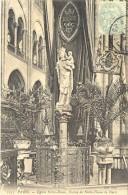 CPA PARIS - EGLISE NOTRE DAME - STATUE DE NOTRE DAME DE PARIS - Eglises
