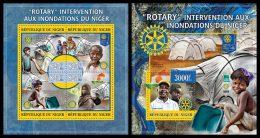NIGER 2013 - Rotary, Flood In Niger - YT 1873-6 + BF175; CV = 35 € - Niger (1960-...)