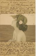 Kirchner Art Nouveau  Femme Profil   Max Herzig Wien - Kirchner, Raphael