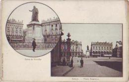 Nancy   438          2 Vues Statue De Stanislas. Place Stanislas  . - Nancy