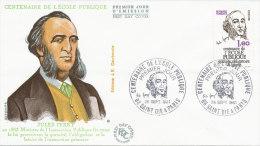 F.D.C. Jules Ferry. Cent. Ecole Publique (Oblit. SAINT DIE & PARIS Du 26.9.1981) - FDC