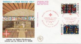 F.D.C. Emission Croix Rouge (Oblit. PARIS Du 5.12.1981) - FDC