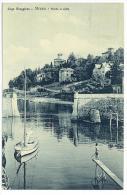 CARTOLINA  -  LAGO MAGGIORE  - STRESA - PORTO E VILLE - Verbano-Cusio-Ossola  - VIAGGIATA NEL 1912 - Verbania