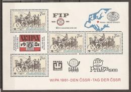 CHECOSLOVAQUIA 1981 - Yvert #H50 - MNH ** - Hojas Bloque