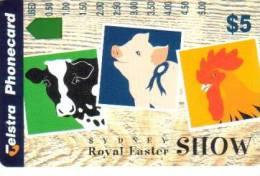 AUSTRALIA $5 SYDNEY EASTER SHOW ANIMALS PIG HEN ROOSTER BIRD BIRDS SOLD O N L Y AT SHOW AUS-406 MINT READ DESCRIPTION !! - Australia