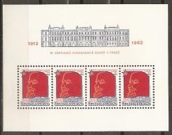 CHECOSLOVAQUIA 1982 - Yvert #H52 - MNH ** - Hojas Bloque