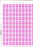 FRANCE / 100 Timbres Autocollants Lettre Prioritaire 100g / Sous Faciale - Adhésifs (autocollants)