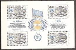 CHECOSLOVAQUIA 1985 - Yvert #H67  - MNH ** - Hojas Bloque