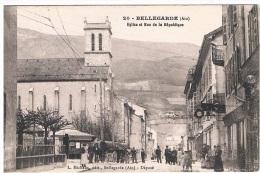 01- BELLEGARDE - église Et Rue De La République - Bellegarde-sur-Valserine