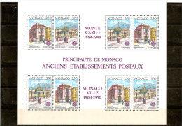 MONACO  BLOC N° 49    NEUF **  1990  EUROPA - Blocs