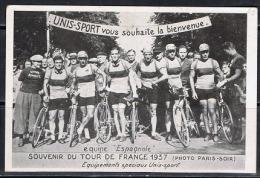 CYC - L17 - CPA Publicitaire TOUR DE FRANCE 1937 Equipe Espagnole - Cyclisme