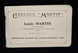 """Céréales Agriculture Meunerie Boulangerie Catalogue LAVEUSES """" MARTIN """" Louis MARTIN ORANGE ( Vaucluse) 1920 Blés - Publicités"""