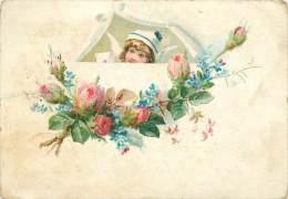Chromos Réf. C693. Veuve C. Cassegrain - Enfant, Roses - Trade Cards