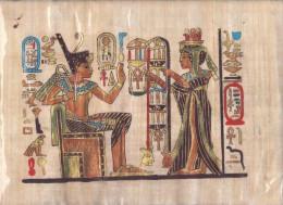 AUTHENTIQUE PAPYRUS ÉGYPTIEN 35/ 25 Cm EN TRÈS BONNE ÉTAT - Arte Orientale