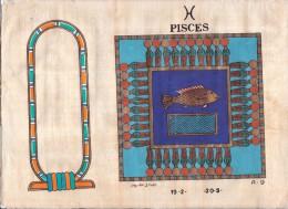 AUTHENTIQUE PAPYRUS ÉGYPTIEN 30/ 25 Cm EN TRÈS BONNE ÉTAT - Art Oriental
