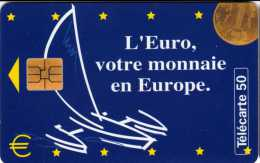 France : L'Euro, Votre Monnaie En Europe 05/97 Tirage 120000 - Timbres & Monnaies